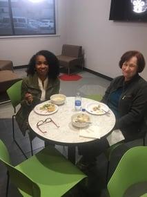 two women enjoying lunch