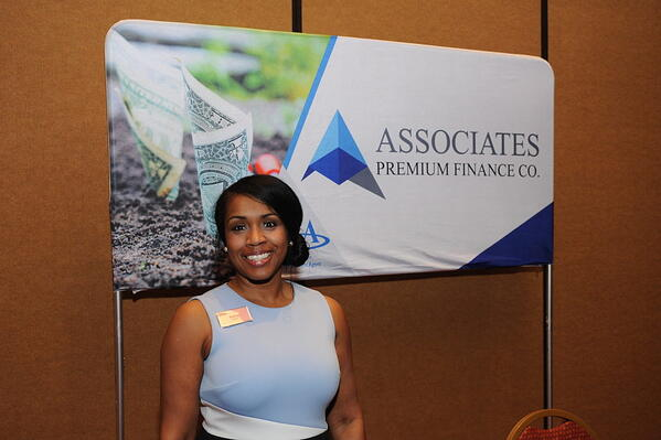Felicia Taylor, Director of APFCO, at the tradeshow booth