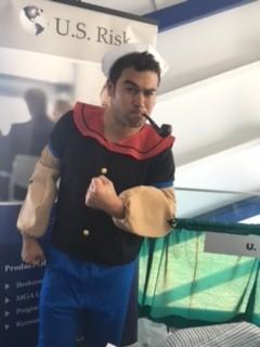 man dressed as popeye