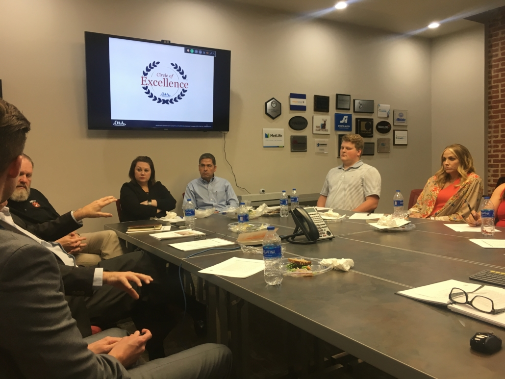 team meeting about circle of excellence