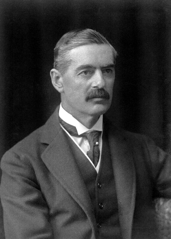 Neville Chamberlain was the British Prime Minister when Great Britain declared war on Germany in 1939. For eight months after the war declaration there was hardly any fighting. That period of time became known as the Phony War.