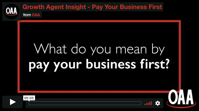 text: what do you mean by pay your business first